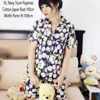 Jual KP348 XL Navy Tsum Pajamas Setelan Wanita 0141 KODE TYR404 Murah