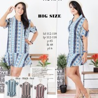 Jual OP9456 dress tribal bigsize 552 motif A KODE Bimb9933 Murah
