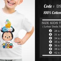 Jual OP270 Kaos Baju Anak Perempuan Tsum Tsum 13 Motif KODE Bimb747 Murah