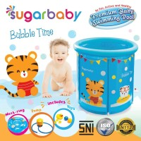 Jual Sugar Baby Premium Baby Swimming Pool Baby Spa Bubble Time (Biru) Murah