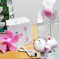 Jual Kipas CLIP Meja HELLO KITTY  Fan USB Hello Kitty Fan Ki Diskon Murah