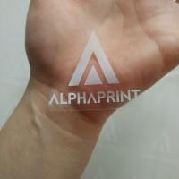 Jual Sticker Custom Vinyl Transparan / Bening Tinta Putih (Print & Cut) Murah