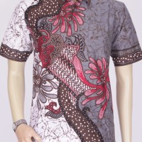 Jual Baju Kemeja Batik Ekslusif Khas Pekalongan 2614 // Kemeja Denim Pria Murah