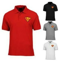 Jual Baju Polo Superman Besar 2XL 3XL-Polo shirt-Kaos kerah Bigsize Murah Murah