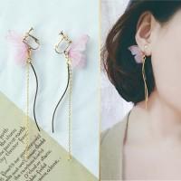 Jual Anting Korea Curved Butterfly Earrings No Needle JUN015 Murah