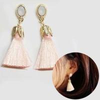 Jual Anting Korea Butterfly Female Earrings Tassel Fashion Earrings REA487 Murah
