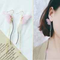Jual Anting Korea Curved Butterfly Earrings JUN014 Murah