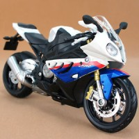 M003-1 Maisto 1:12 BMW S1000RR Blue Motorcycle Model Diecast Toy Gifts