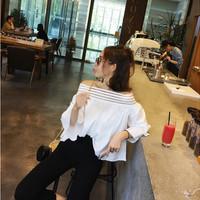 Jual Kemeja Kaos Blouse Tank Top Polo Shirt kaos wanita butterfly atasan Murah