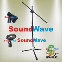 STAND MIC LANTAI DOUBLE/DUA HOLDER - TIANG MICROPHONE/MIKROFON/MIK