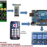 ARDUINO PROJECT / KONTROL RELAY VIA ANDROID DAN REMOT INFRARED