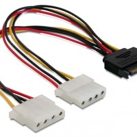 kabel sata power male to 2 molex female