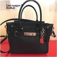 Coach swagger 21 black tas asli original bag authentic bag