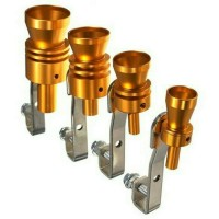 Knalpot Gold Exhaust Fake Turbo Whistler Pipe Sound Muffler Size M