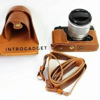Leather Case Fujifilm XE2 XE2S brown Luxury Quality Full Halfcase