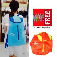 Jual Trend's Tas Ransel Besar Backpack Waterproof Jingga - Gratis Tongsis M Murah