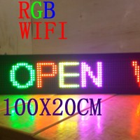 Running Text RGB 100cm x 20cm Wifi Outdoor / Moving Sign LED Display