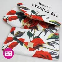 Jual Red Rose Clutch - Tas Wanita Tas Pesta Murah Import Handbag Murah