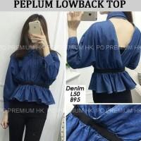 Jual KP4400 Peplum lowback top Atasan Wanita Blouse 0116 KODE TYR4456 Murah