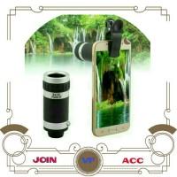 Lensa tele 8X Zoom + Mini Tripod