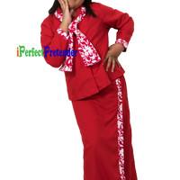 harga Kostum Baju Pramugari Anak Uk 10(10-11 Tahun) Tangan Panjang Merah Tokopedia.com