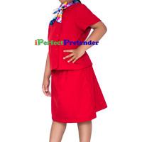 harga Kostum Baju Pramugari Anak Uk 6(6-7 Tahun) Tangan Pendek Merah Tokopedia.com