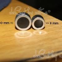 Anting Magnet Silver-Black Titanium Steel (per 1 buah)
