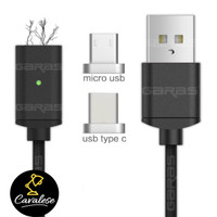 Magnetic Charger 2 in 1 Samsung Xiaomi LG Android Micro USB, Type C