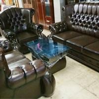 1 set sofa jaguar cokelat jumbo berkualitas
