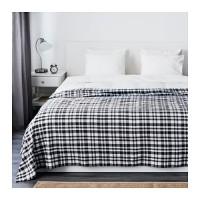 Ikea Backvial ~ Penutup Tempat Tidur, Hitam/Putih 250x250Cm  Bedspread