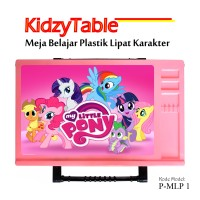 Meja Belajar Lipat Anak Karaketr KidzyTable (Pink - My Little Pony 01)
