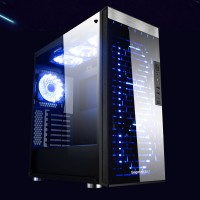 Casing PC CPU SEGOTEP SG-K8 - FULL TEMPERED GLASS - 3x RGB LED FAN