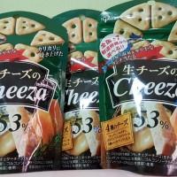 Glico Cheeza 4 keju cheese snack Jepang
