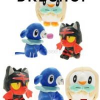 Boneka Pokemon Gen 7 Rowlet Litten Popplio Pokemon Figure Pikachu