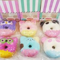 ANIMAL DONUTS SQUISHY PUNIMARU / puni maru donut owl cat panda rare