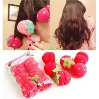 Jual magic strawberry roll rambut sponge 6pcs (hair curler) Murah