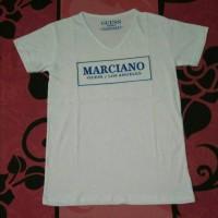 Jual Kaos / T'Shirt Letter Marciano Foil Black and White Murah