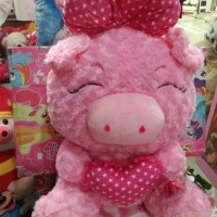 Jual Boneka babi pita Love cantik Murah