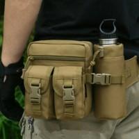 Jual Tas Pinggang Tactical Botol Minum Army waist bag travel / outdoor Murah