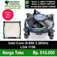 Processor Intel Core i5-650 3.20GHz LGA 1156 + Fan