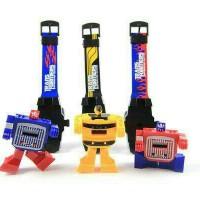 Jam Tangan Anak Cowo Robot Super Transformers Mainan 2in1