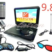 DVD PORTABLE LED 9.8 inch USB - SD Card - TV Tuner