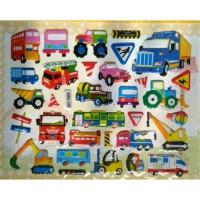 Sticker Stiker Anak Timbul Alat Transportasi Darat