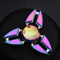 Spinner Metal NINJA RAINBOW STAR BRASS FIDGET SPINER PELANGI