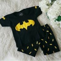 Jual (6-12 bln) Setelan Baju set baby Batman / Kaos baju anak cowok Murah