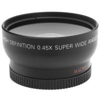 Lensa Wide / 45x Super Wide Angle Lens 52mm For Nikon D5100 D3200 D310