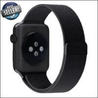 Jual Strap Jam Luxury Milanese Stainless Apple Watch 42mm - Black H288 Murah
