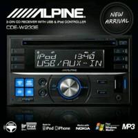 TAPE ALPINE CDE W 233 EH / DOUBLE DIN ALPINE CDE W233 / head unit