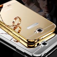 Galaxy NOTE 2 NOTE II Aluminum Bumper Mirror Hard case casing cover