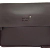 Tas Selempang laptop kulit pria Montblanc (Coffee)